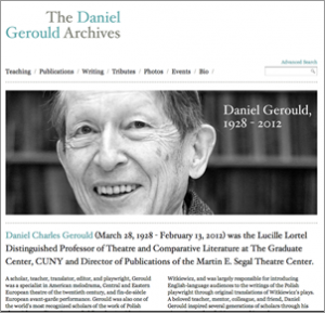 The Daniel Gerould Archives