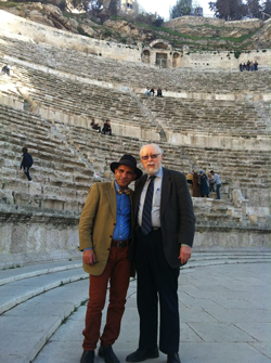 Co-Editors Marvin Carlson and Safi Mahfouz in Roman theatre in Amman, Jordan (February 2014).
